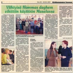 Hommas daghem2001KS
