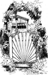 portti siirtolapuutarhassa 1990